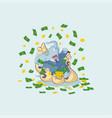 elephant sticker emoticon lies happy vector image vector image