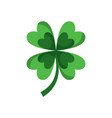 four leaf clover good luck vector image vector image