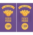 French fries banners vector image vector image
