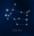 Gemini constellation vector image vector image