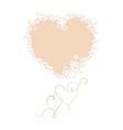 greeting cards with hearts and flowers vector image