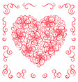 heart ornament ornate flower vector image vector image