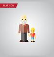 isolated grandpa flat icon grandson vector image vector image