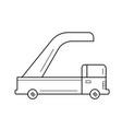 jet ladder line icon vector image