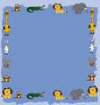 jungle animals cartoon 6 vector image vector image
