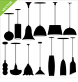 lamp silhouettes vector image