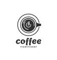 logo coffee vintage badge style vector image