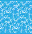 lotus abstract blue seamless pattern vector image vector image