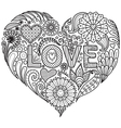 Love in heart shape vector image vector image