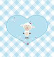 Lovely sheep in a big heart vector image vector image