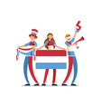 luxembourgish flag luxembourg people vector image vector image