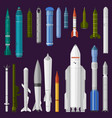missile military rocket weapon and vector image vector image