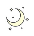 moon color icon on white background for graphic vector image