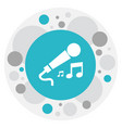 of mp3 symbol on microphone vector image vector image