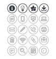 office equipment icons computer and printer vector image vector image