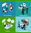 office isometric design concept vector image