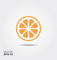 orange flat icon with shadow vector image vector image