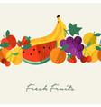 organic fresh fruit healthy food menu background vector image vector image