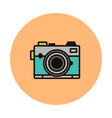 photocamera line icon isolated on white vector image vector image
