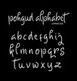 pohgud alphabet typography vector image vector image