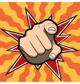 Pointing finger or hand pointing icon isolated on vector image vector image