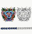 polish folk ornament decoration design on cup vector image vector image