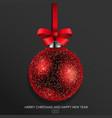 red glass christmas ball vector image vector image