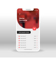 red music player application design vector image vector image