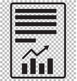 report text file icon on transparent flat style vector image