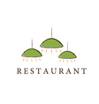 restaurant lamps vector image