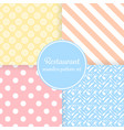 restaurant or bistro theme pastel color stripes vector image