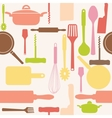 Seamless pattern of kitchen tools vector | Price: 1 Credit (USD $1)
