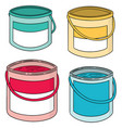set of paint bucket vector image vector image