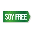 Soy Free sign ribbon vector image vector image