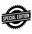 Special edition stamp vector image vector image