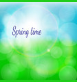 spring natural background with bokeh and vector image