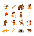 Stone Age Icons Set vector image