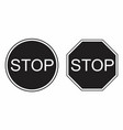 stop traffic signs vector image vector image