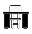 study desk with chair vector image vector image