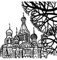 The Savior on Spilled Blood in St Petersburg vector image
