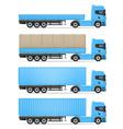 truck semi trailer 06 vector image vector image