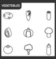 vegetebles outline isometric icons vector image vector image