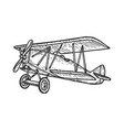 vintage airplane sketch engraving vector image vector image