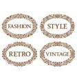 vintage oval frames set with different vector image