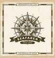vintage seafarer label vector image vector image
