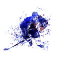 watercolor of hockey player vector image vector image