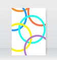 White brochure with abstract circles vector image vector image