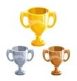 Winner cups set vector image vector image