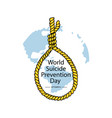 world suicide prevention day september 10 vector image vector image