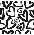 Black and white heart pattern vector image